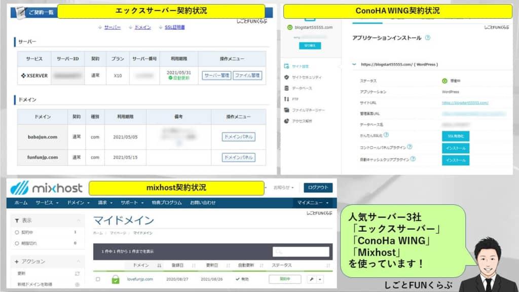 【エビデンス】人気のレンタルサーバー利用状況